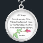 """PERSONALIZE SISTER-NECKLACE SILVER PLATED NECKLACE<br><div class=""""desc"""">PERSONALIZE SISTER-NECKLACE</div>"""