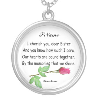 PERSONALIZE SISTER-NECKLACE SILVER PLATED NECKLACE