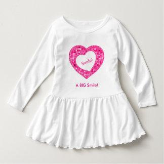 "Personalize:  ""Smile a BIG Smile"" Fuchsia Tile Shirt"