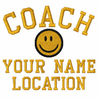 Personalize Smiley Coach Your Name Your Game! Embroidered Shirt