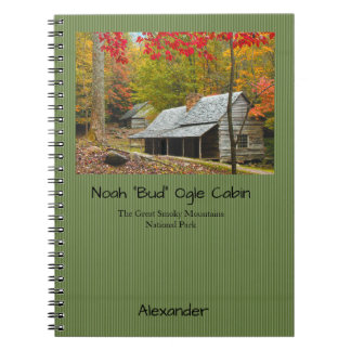 """Personalize: Smokies Noah """"Bud"""" Ogle Cabin Picture Notebook"""