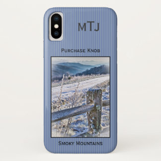 Personalize: Smoky Mountains, Purchase Knob Winter iPhone X Case