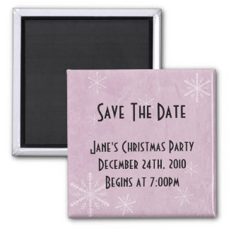 PERSONALIZE Snowflake Paper 3 - Pink Magnet