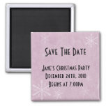 PERSONALIZE Snowflake Paper 3 - Pink Magnets