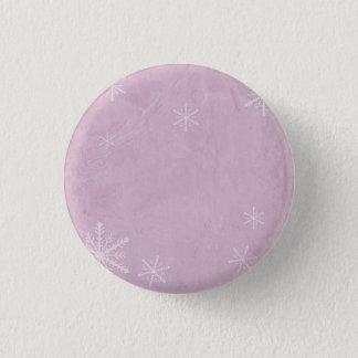 PERSONALIZE Snowflake Paper 3 - Pink Pinback Button