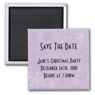 PERSONALIZE Snowflake Paper 3 - Purple Magnet