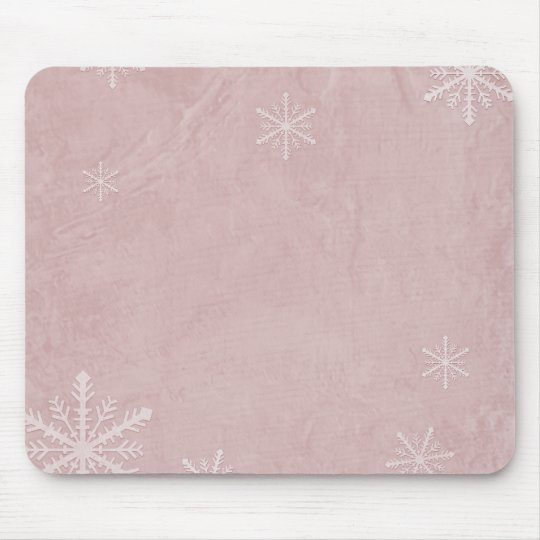 PERSONALIZE Snowflake Paper 3 - Red Mouse Pad