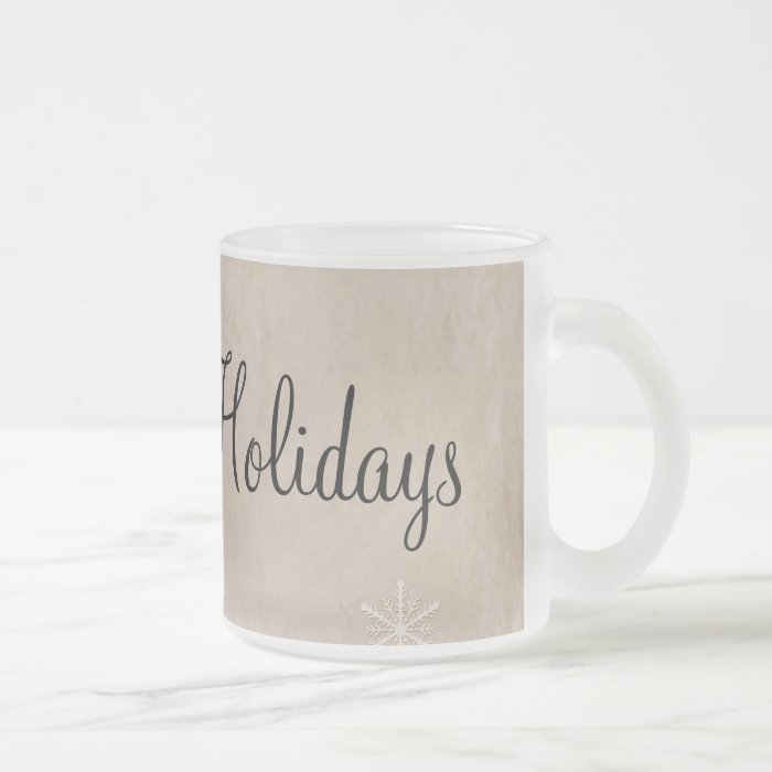 PERSONALIZE Snowflake Paper 3 - Sepia Orange Frosted Glass Coffee Mug