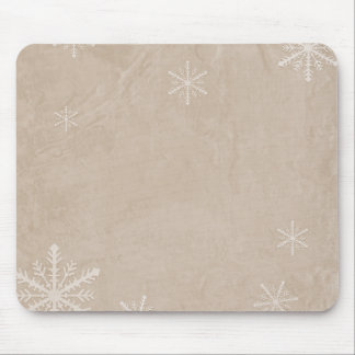 PERSONALIZE Snowflake Paper 3 - Sepia Orange Mouse Pad