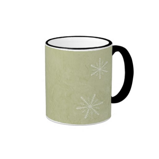 PERSONALIZE Snowflake Paper 3 - Yellow Ringer Coffee Mug