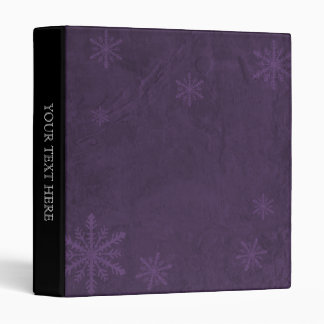 PERSONALIZE Snowflake Paper 4 - Dark Purple Vinyl Binder