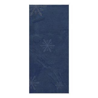 PERSONALIZE - Snowflakes 4 - Original Dark Blue Rack Card