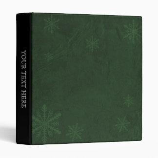 PERSONALIZE Snowflakes 4 - Original Dark Green Binder