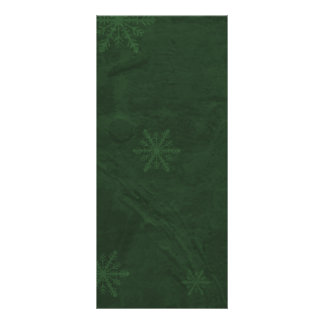 PERSONALIZE - Snowflakes 4 - Original Dark Green Rack Card