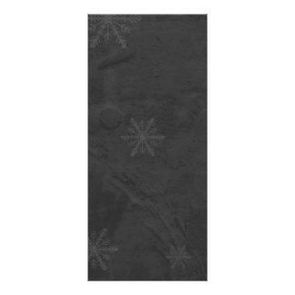 PERSONALIZE - Snowflakes 4 - Original Dark Grey Rack Card