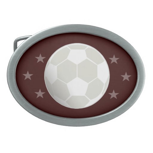 personalize Soccer Ball Belt Buckle