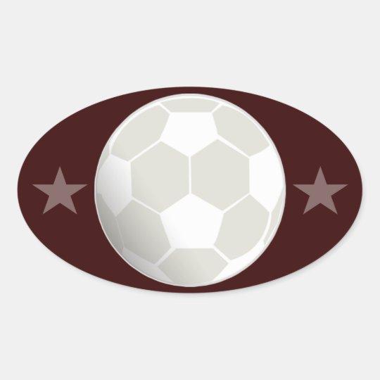 personalize Soccer Ball Sticker