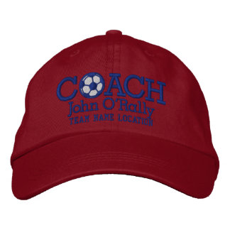 Personalize Soccer Coach Cap Your Name Your Game!