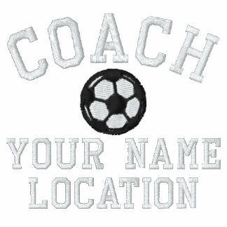 Personalize Soccer Coach Your Name Your Game! Embroidered Polo Shirt