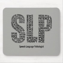 Personalize Speech Therapy SLP Mouse Pad