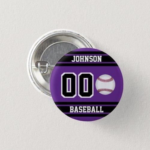 Personalize Sport Baseball _ Purple Button