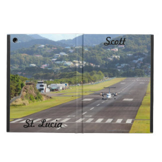 (Personalize) St. Lucia Plane and Airstrip photo Cover For iPad Air