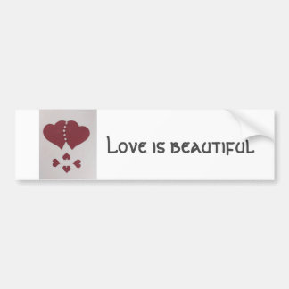 Personalize St. Valentine's red heart with pearls Bumper Sticker