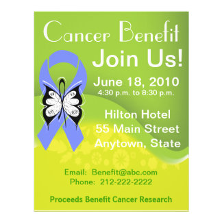 Personalize Stomach Cancer Fundraising Benefit Flyer