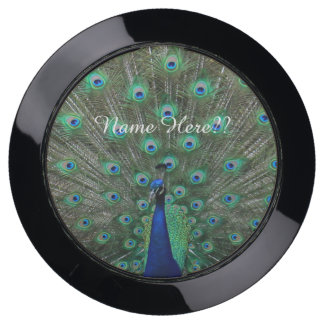 (Personalize) Strutting Male Peacock USB Charging Station