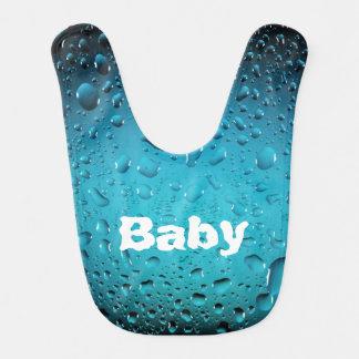 Personalize Stylish Cool Blue water drops Bib
