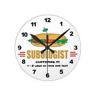 Personalize Sub Sandwiches Round Clock