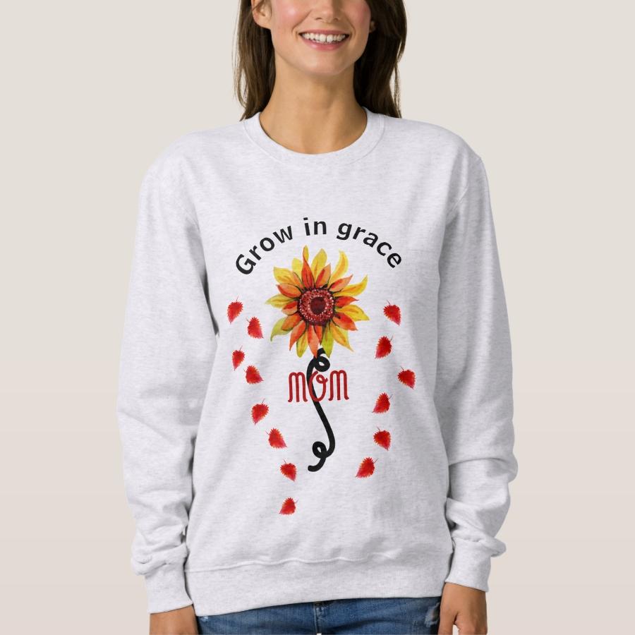 Personalize Sunflower Custom Quote Sweatshirt - Creative Long-Sleeve Fashion Shirt Designs