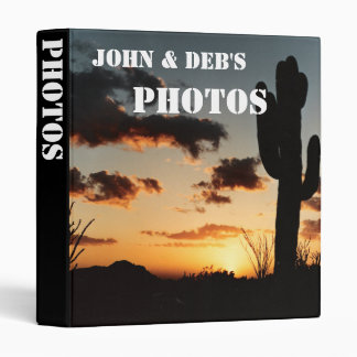 Personalize Sunset Photograph Album Binder