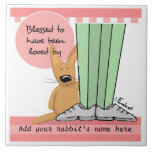 Personalize Sweet Bunny Memorial Tile