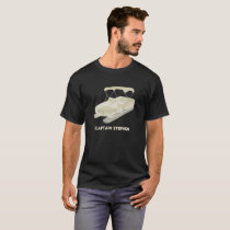 Personalize T-Shirt for Pontoon Boat Owners Cream