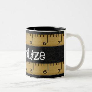 Personalize Teacher Rules Chalkboard Two-Tone Coffee Mug