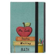 Personalize Teachers', Apple, Books and Pencils Case For iPad Mini