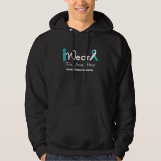 Personalize Teal and White Ribbon Cervical Cancer Pullover