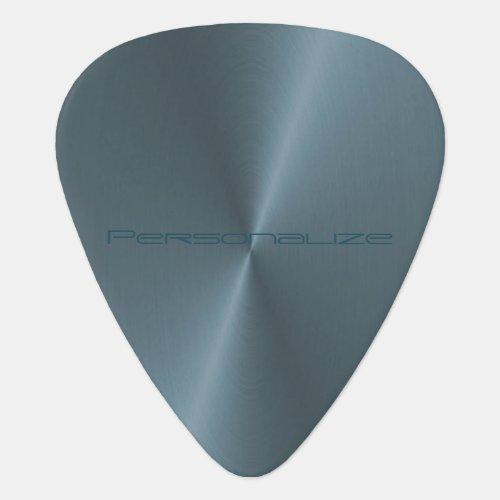 Personalize Teal Blue Metallic Print  Guitar Pick