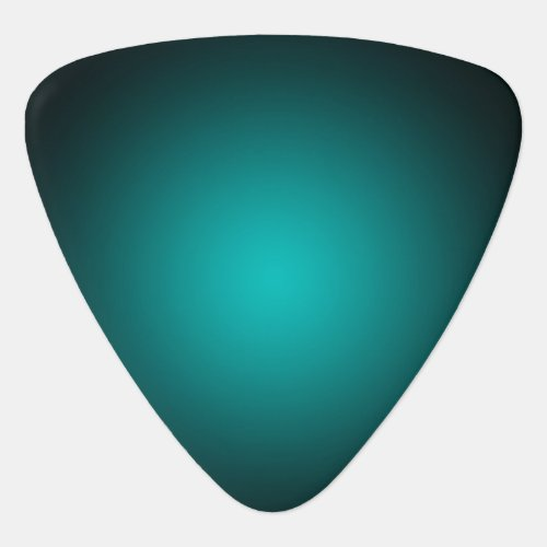 Personalize _ Teal ombre gradient background Guitar Pick