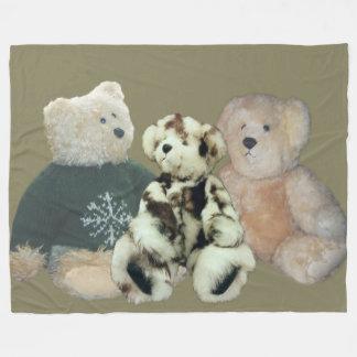 Personalize Teddy Bear Fleece Blanket