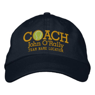 Personalize Tennis Coach Cap Your Name Your Game