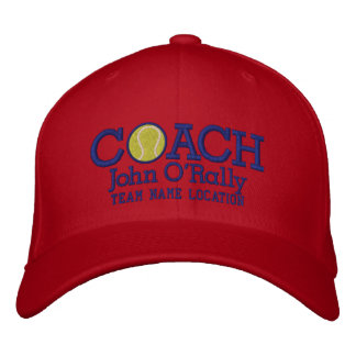 Personalize Tennis Coach Cap Your Name Your Game Baseball Cap