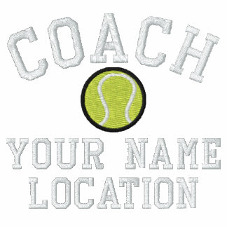 Personalize Tennis Coach Your Name Your Game! Polo