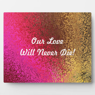 Personalize Text Shades in Purple and Gold Plaque