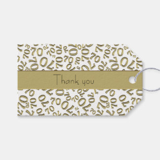 "Personalize:  ""Thank you"" 70th Birthday Gift Tag"