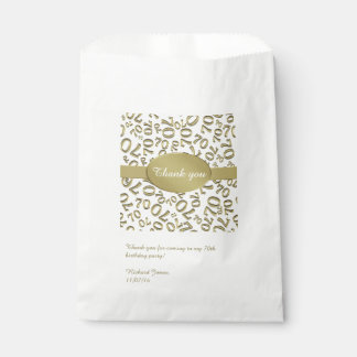 Personalize:  Thank You 70th Birthday Party Theme Favor Bag