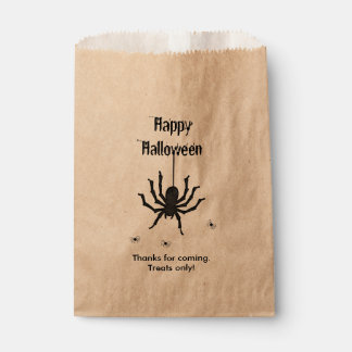 Personalize Thank You, Happy Halloween Spiders Favor Bag
