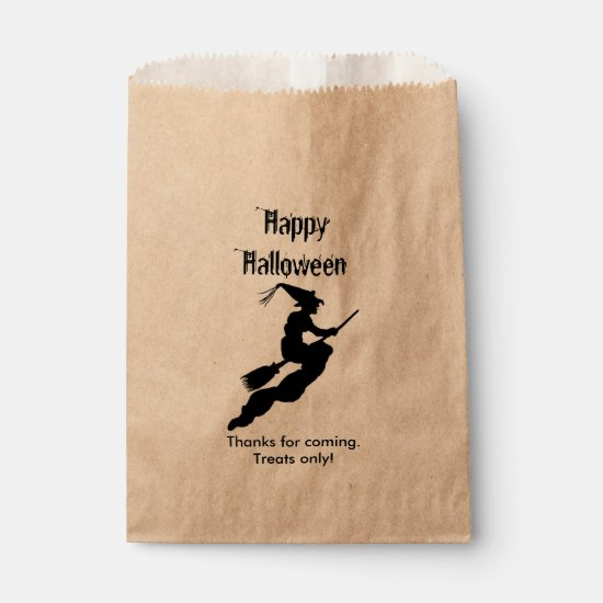 Personalize Thank You, Happy Halloween - Witch Favor Bag