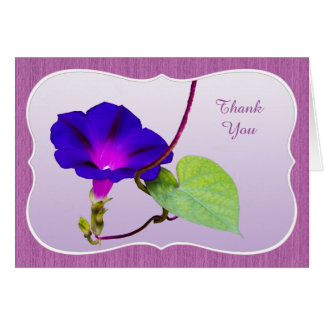"""Personalize: """"Thank You"""" Morning Glory Picture Card"""